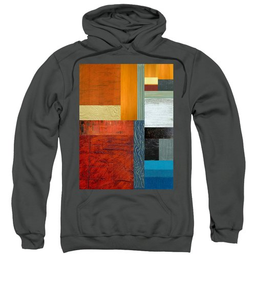 Sweatshirt featuring the painting Orange Study With Compliments 1.0 by Michelle Calkins