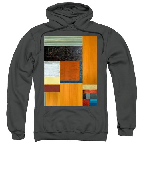 Sweatshirt featuring the painting Orange Study With Compliments 2.0 by Michelle Calkins