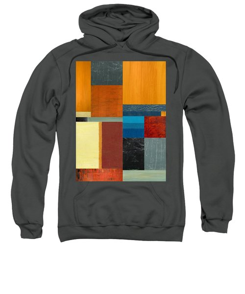 Sweatshirt featuring the painting Orange Study With Compliments 3.0 by Michelle Calkins