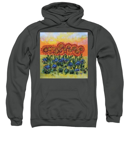 Orange Sunset Flowers Sweatshirt