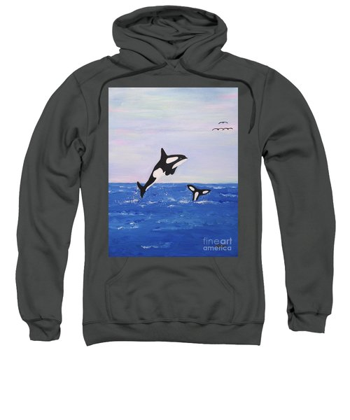 Orcas In The Morning Sweatshirt