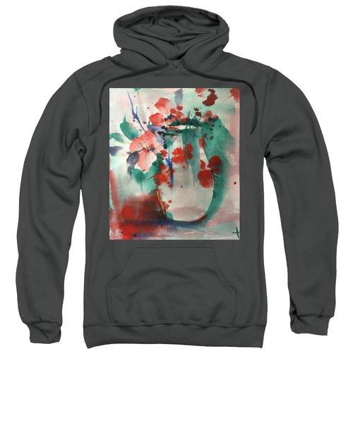 Oriental Brush Flowers And Vase Sweatshirt
