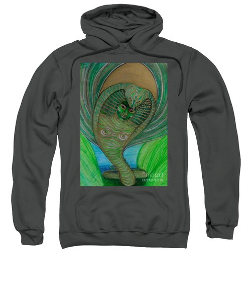 Sweatshirt featuring the drawing Wadjet Osain by Gabrielle Wilson-Sealy
