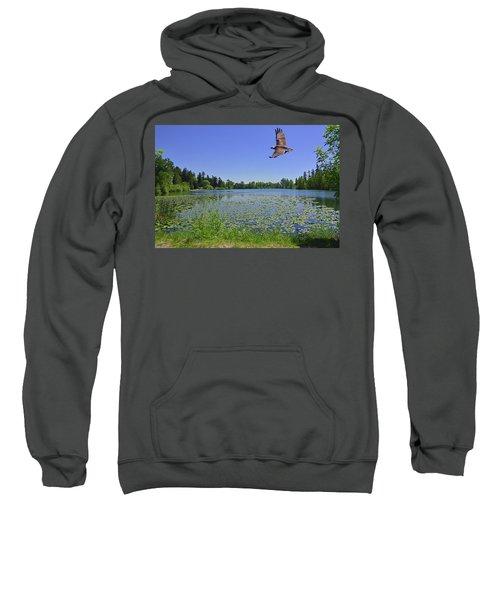Osprey Fishing At Wapato Lake Sweatshirt
