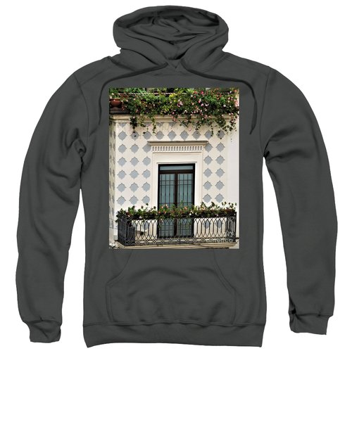 Overlooking The Piazza Sweatshirt