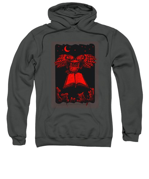 Owl And Friends Redblack Sweatshirt
