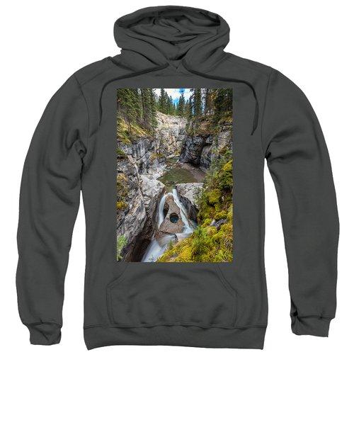 Owl Face Falls Of Maligne Canyon Sweatshirt