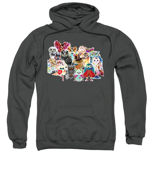 Owls Collage By Isabel Salvador Sweatshirt
