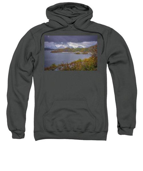 Oxbow Bend Fall Snowfall Sweatshirt
