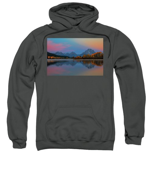 Oxbows Reflections Sweatshirt by Edgars Erglis