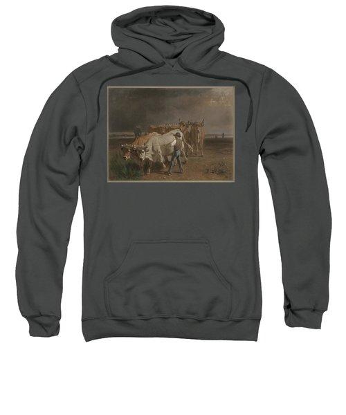 Oxen Ploughing Constant Troyon Sweatshirt
