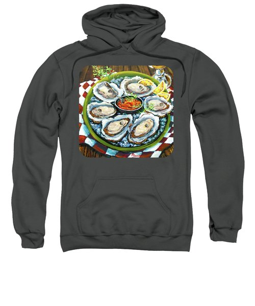 Oysters On The Half Shell Sweatshirt by Dianne Parks