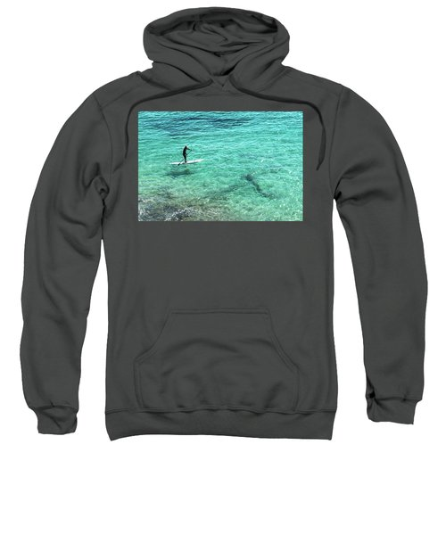 Paddle The Aqua Sea Sweatshirt