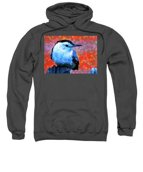 Painted White Breasted Nuthatch Sweatshirt