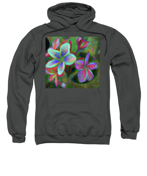 Painterly Frangipanis Sweatshirt