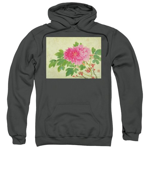 Painting Of Peonies Sweatshirt