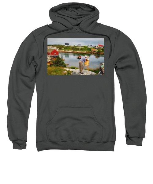 Painting Peggys Cove Sweatshirt