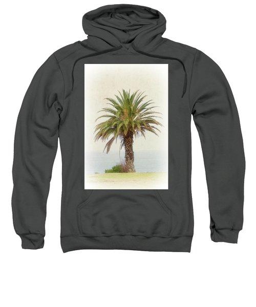 Palm Tree In Coastal California In A Retro Style Sweatshirt
