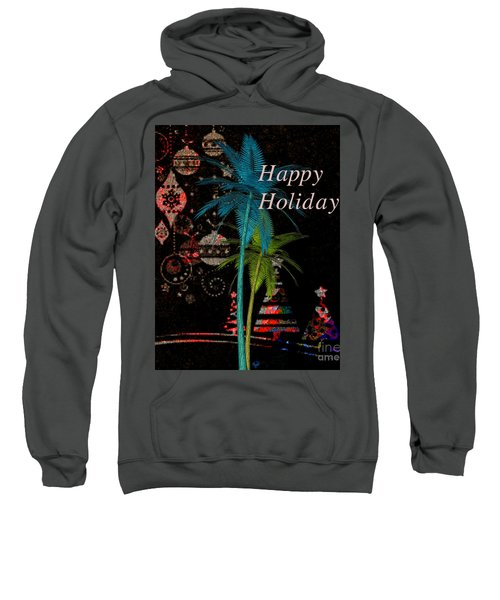 Palm Trees Happy Holidays Sweatshirt