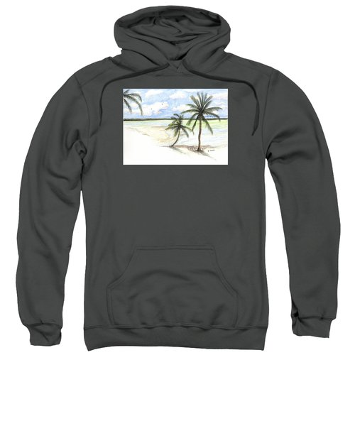 Palm Trees On The Beach Sweatshirt
