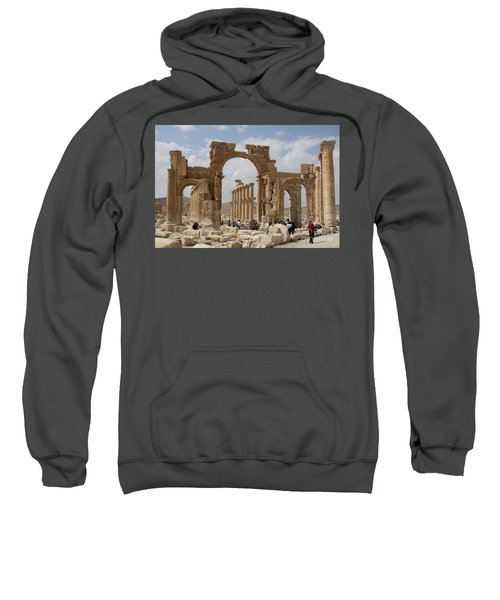 Palmyra Before...triumphal Arch Sweatshirt