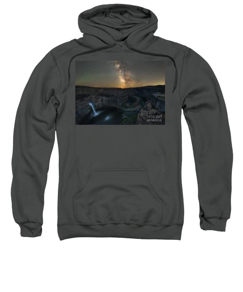 Palouse Falls Milky Way Galaxy  Sweatshirt