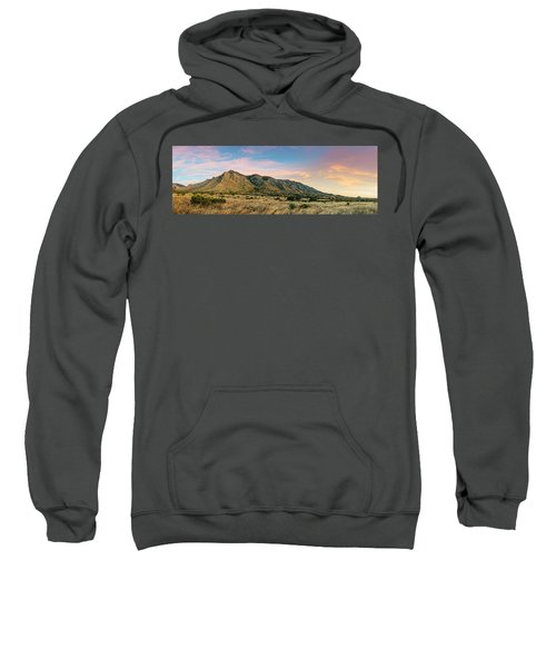 Panorama Of Hunter Peak And Frijole Ridge At Guadalupe Mountains National Park - West Texas Sweatshirt