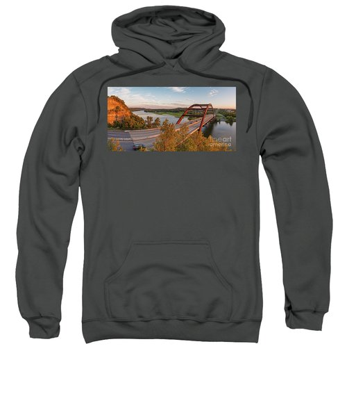 Panorama Of Lake Austin And Texas Hill Country From Highway 360 Overlook - Austin Texas Sweatshirt