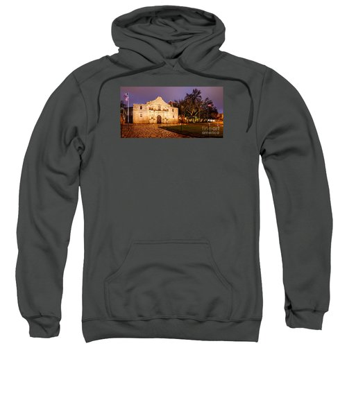 Panorama Of The Alamo In San Antonio At Dawn - San Antonio Texas Sweatshirt