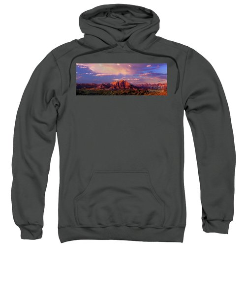 Panorama West Temple At Sunset Zion Natonal Park Sweatshirt