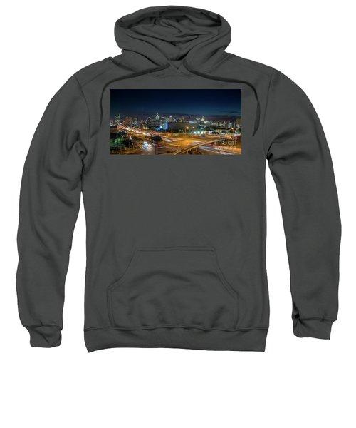 Panoramic View Of Busy Austin Texas Downtown Sweatshirt