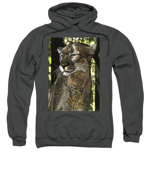 Panther Contemplates Sweatshirt
