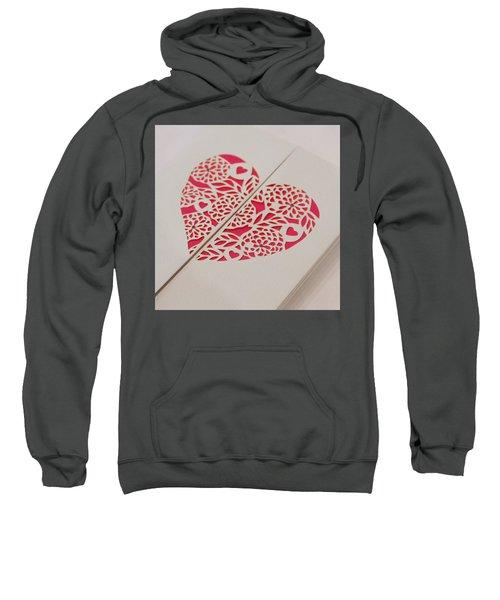 Paper Cut Heart Sweatshirt