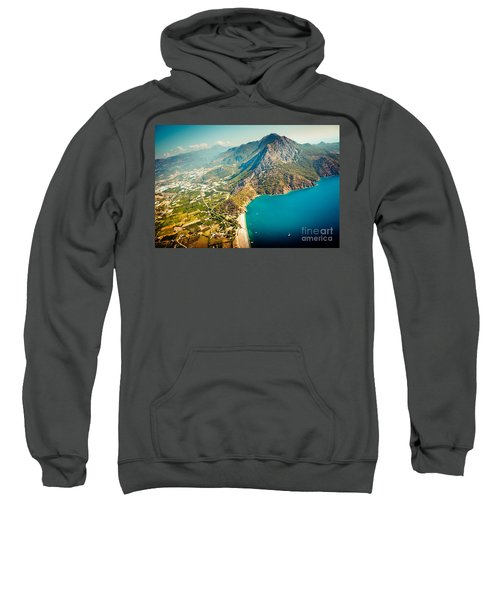 Paragliding Fly Above Laguna Artmif.lv Sweatshirt