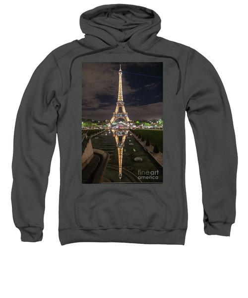 Paris Eiffel Tower Dazzling At Night Sweatshirt