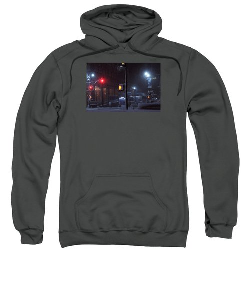 Park Avenue And E46th Street In The Late Night Snow Storm Sweatshirt