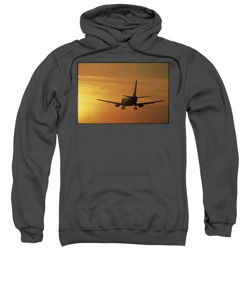 Passenger Plane Taking Off Lax Airport Sweatshirt