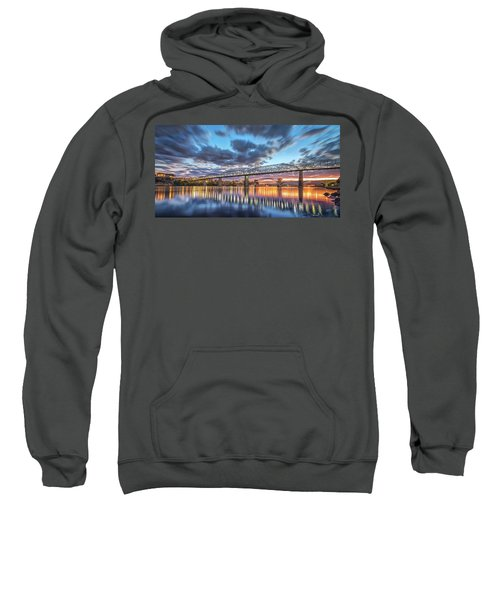 Passing Clouds Above Chattanooga Pano Sweatshirt