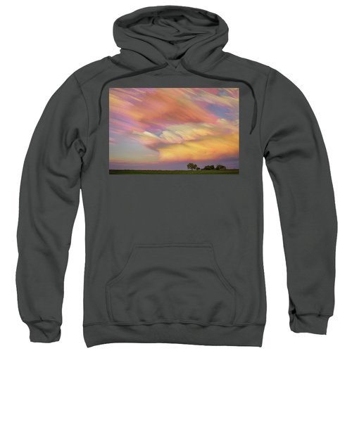 Sweatshirt featuring the photograph Pastel Painted Big Country Sky by James BO Insogna