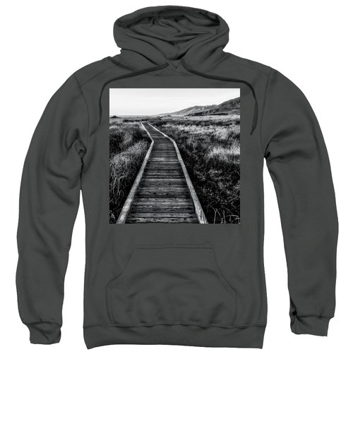 Path To The Sea In Black And White Sweatshirt