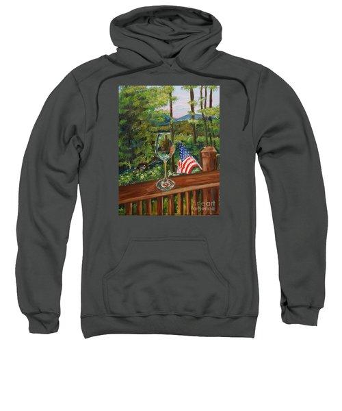 Star Spangled Wine - Fourth Of July - Blue Ridge Mountains Sweatshirt