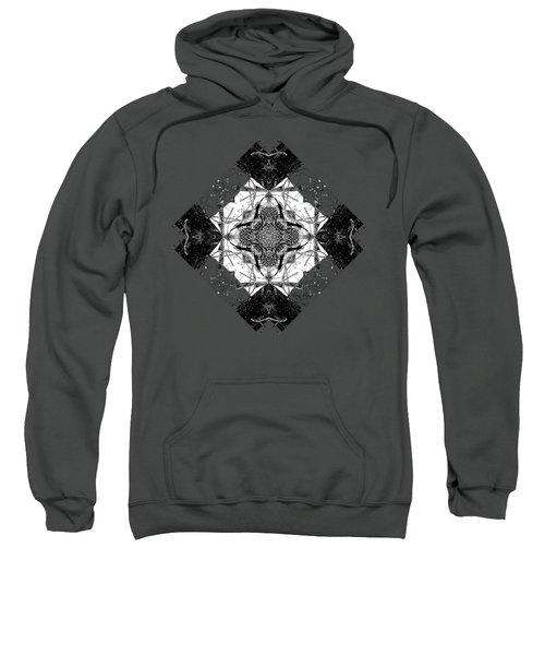 Pattern In Black White Sweatshirt