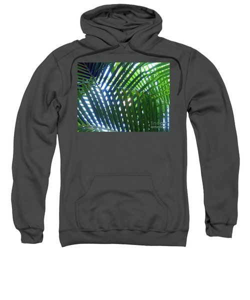 Patterned Palms Sweatshirt