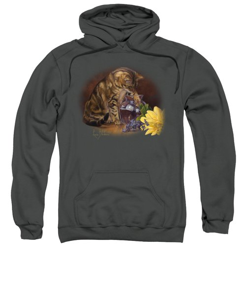Paw In The Vase Sweatshirt by Lucie Bilodeau