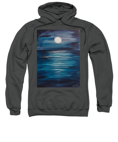 Peaceful Moon At Sea Sweatshirt