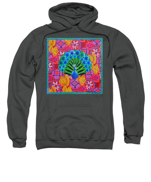 Peacock And Pattern Sweatshirt