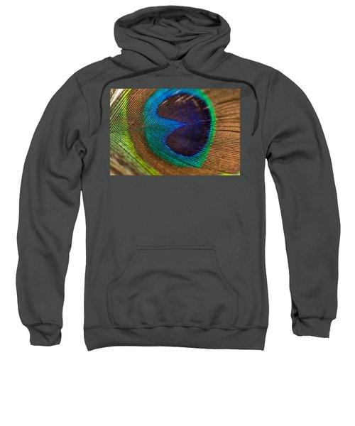 Peacock Feather Macro Detail Sweatshirt
