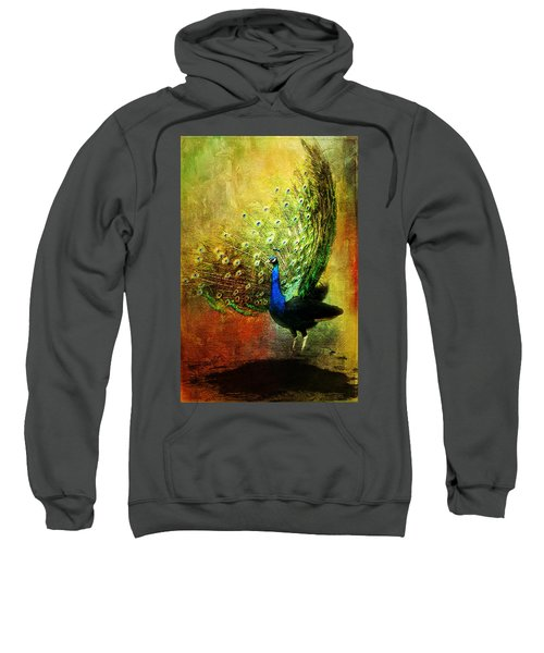 Peacock In Full Color Sweatshirt