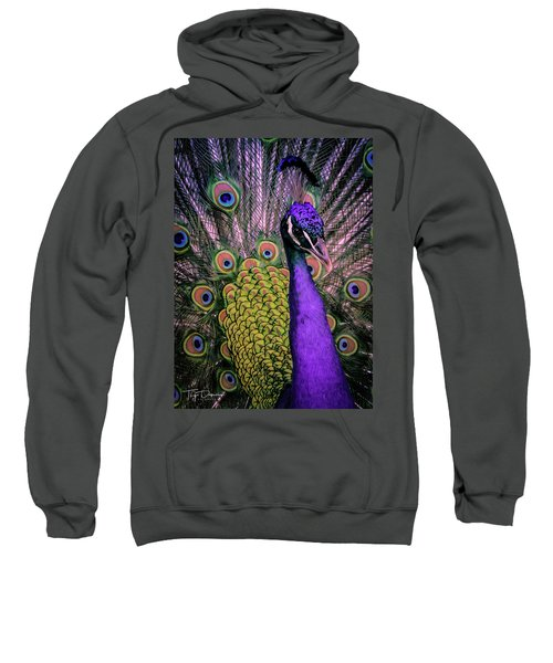 Peacock In Purple 2 Sweatshirt