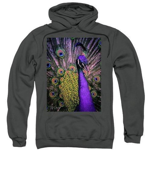 Peacock In Purple 2 Sweatshirt